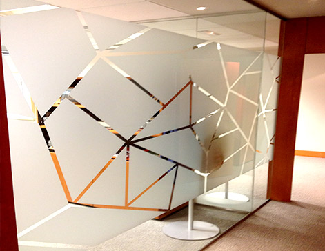 Impresi n vinilos al cido glaseados para cristales y for Vinilos para oficinas